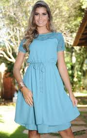 vestido para evangélicas azul - dicas e fotos