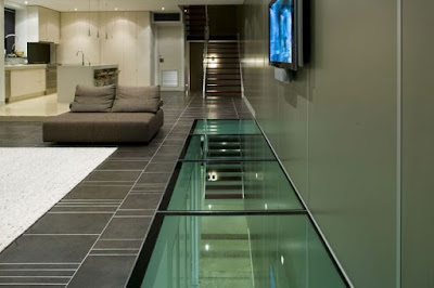 A Transparent Green Glass Floor