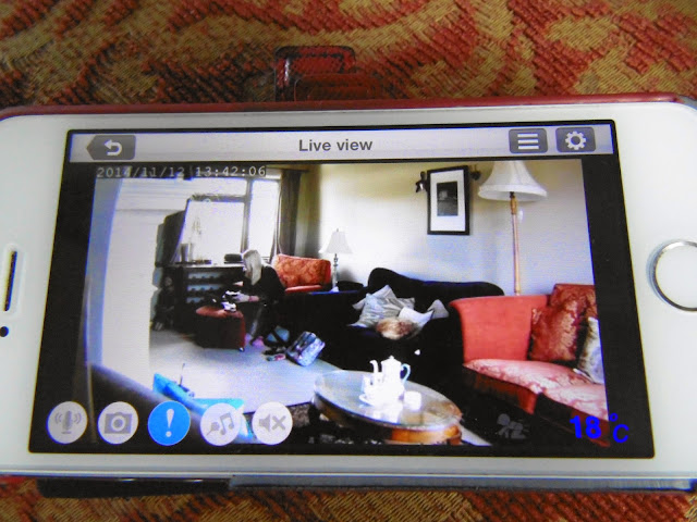 iphone video screen showing feed from D-Link BabyCam camera