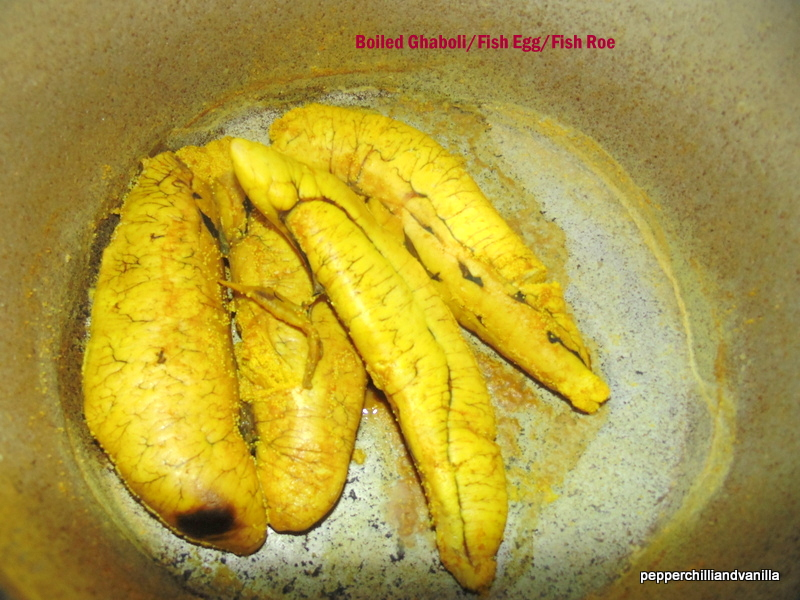 Ghaboli Fry/Fish Roe Fry/Fish Egg Fry | Pepper, Chilli and