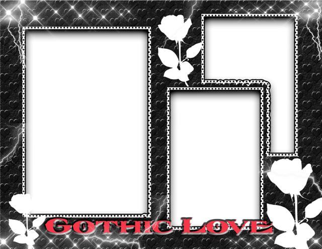 Marco para 3 fotos inspirado en el amor gothic