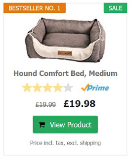 Photo of online dog bed offer