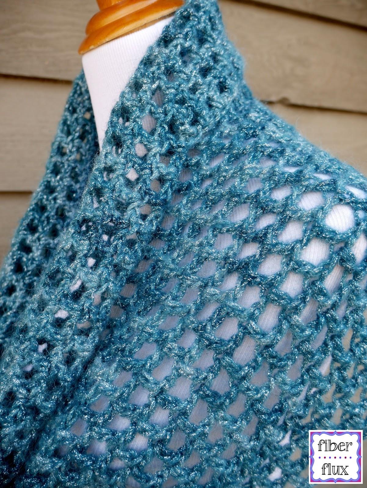Fiber Flux Free Crochet Pattern Ocean Shimmer Capelet Cowl