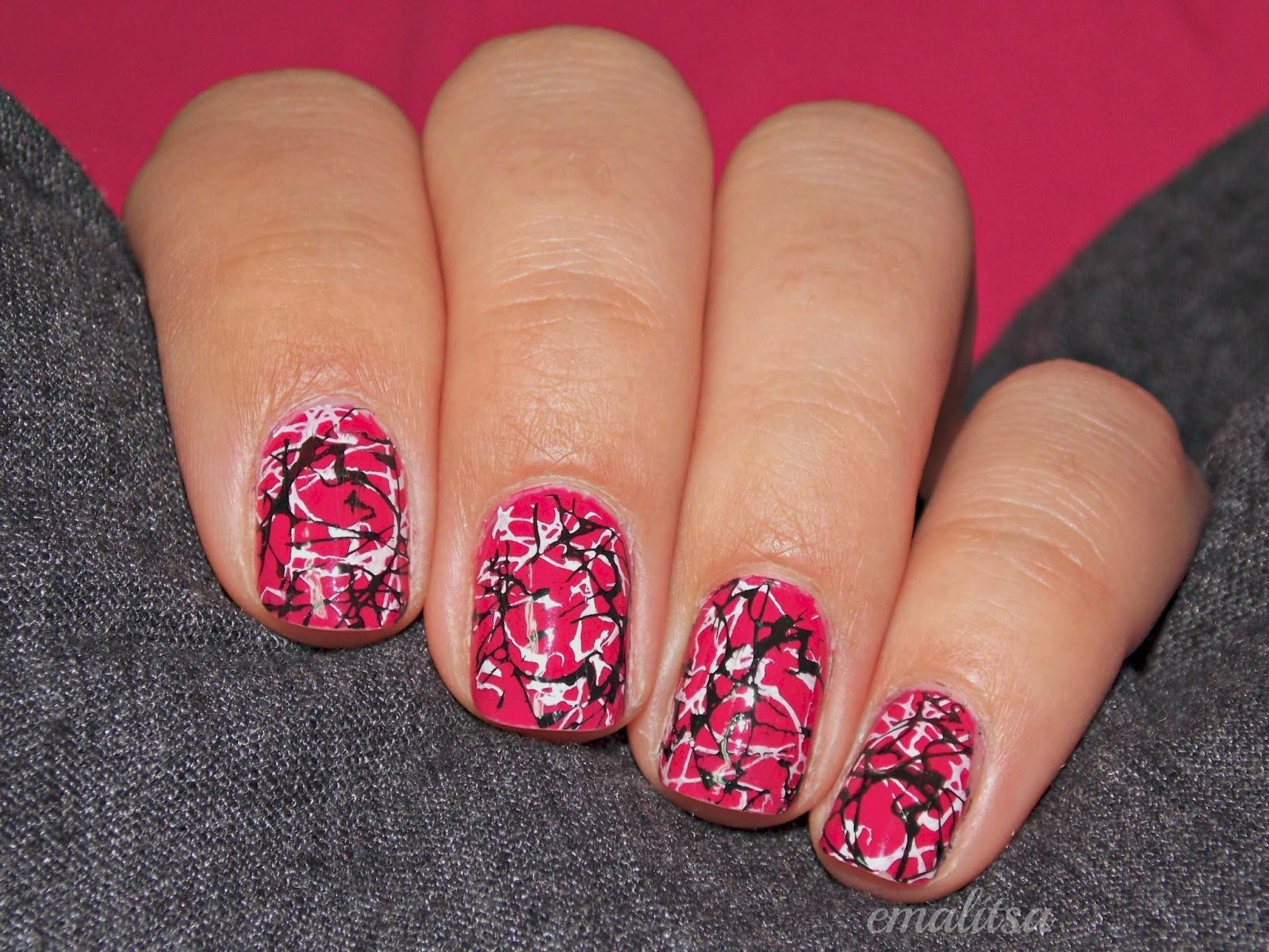 Pink And Black Nail Ideas Beautiful Color Combination Gallery