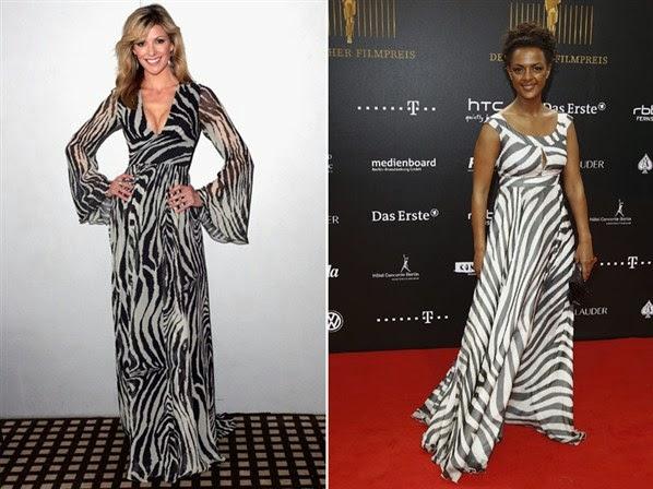 vestido longo com estampa animal de zebra - fotos e modelos