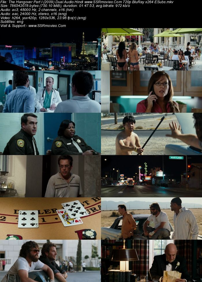 The Hangover (2009) Dual Audio Hindi 720p BluRay 750MB