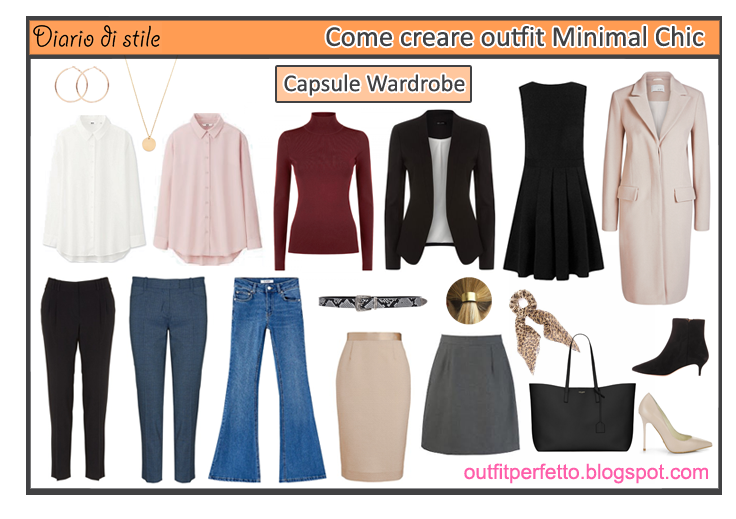 Outfit perfetto come creare outfit minimal chic appunti for Stile minimal chic