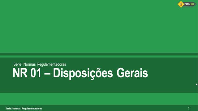 NR 01 - Disposições Gerais