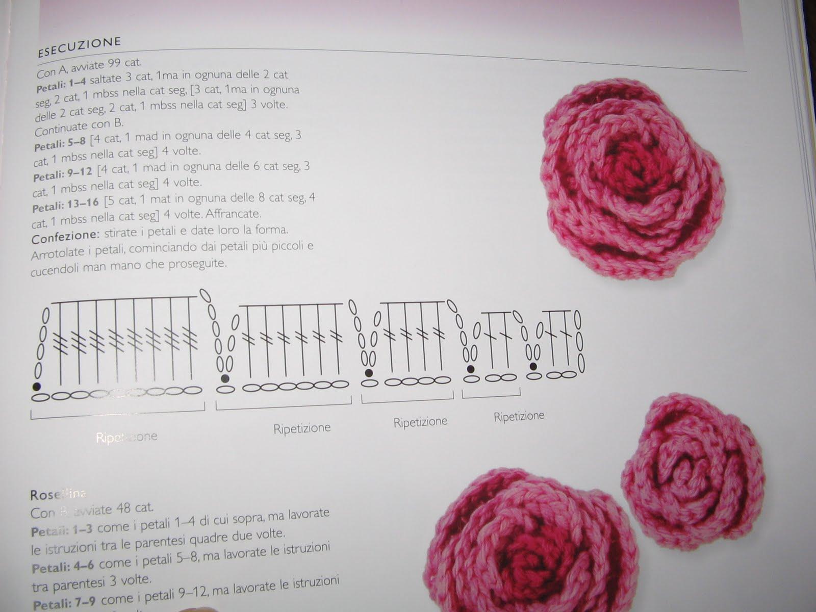 Schema Rose Uncinetto