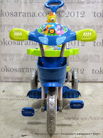 Sepeda Roda Tiga Royal RY1082 Macan - Blue