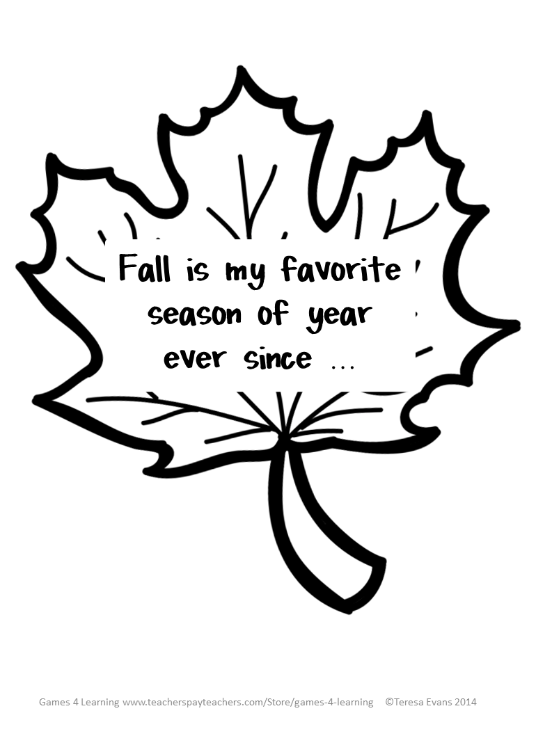 Fun Games 4 Learning: Fall Writing Quilts