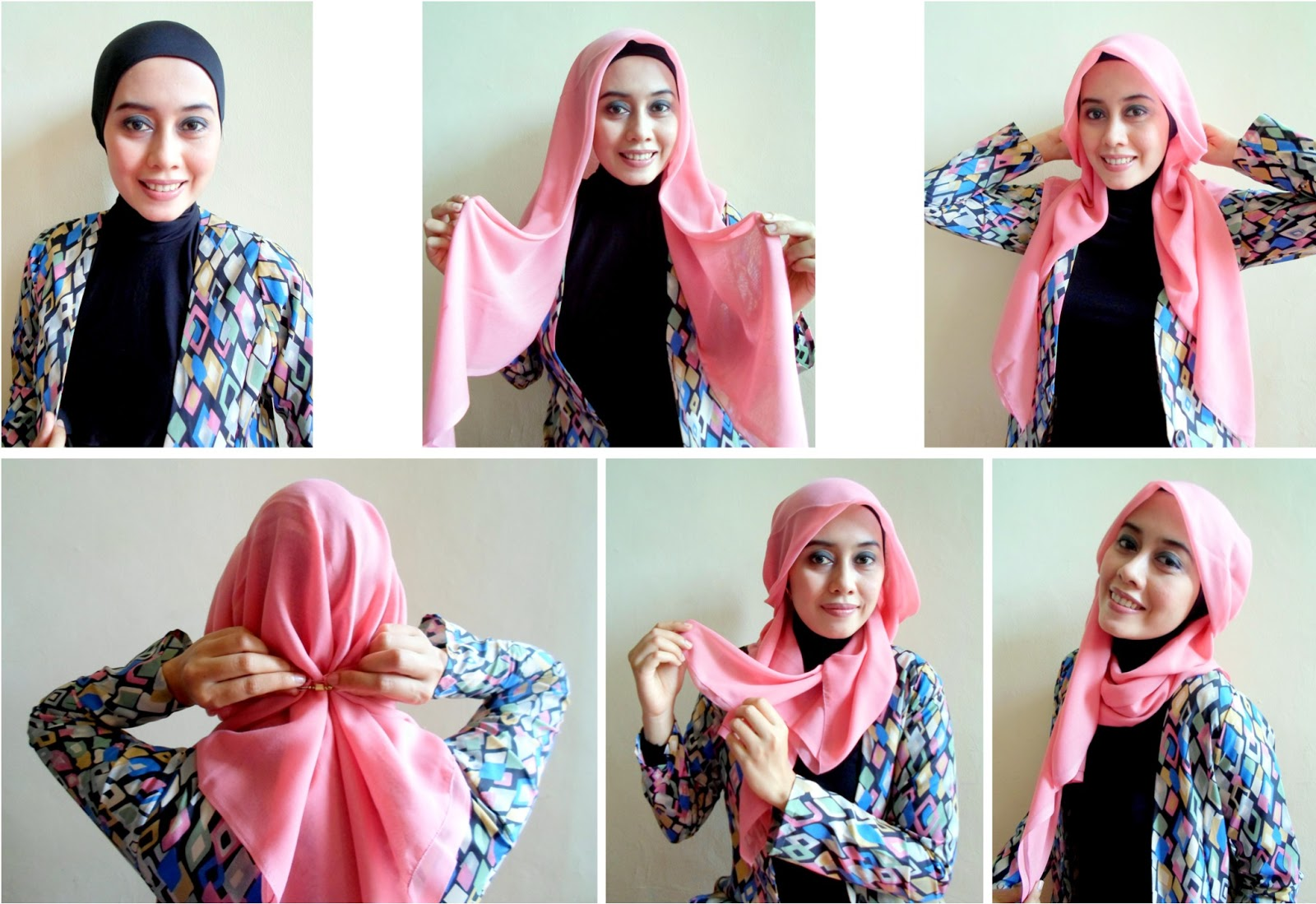 tutorial hijab terbaru: tutorial hijab pashmina simple