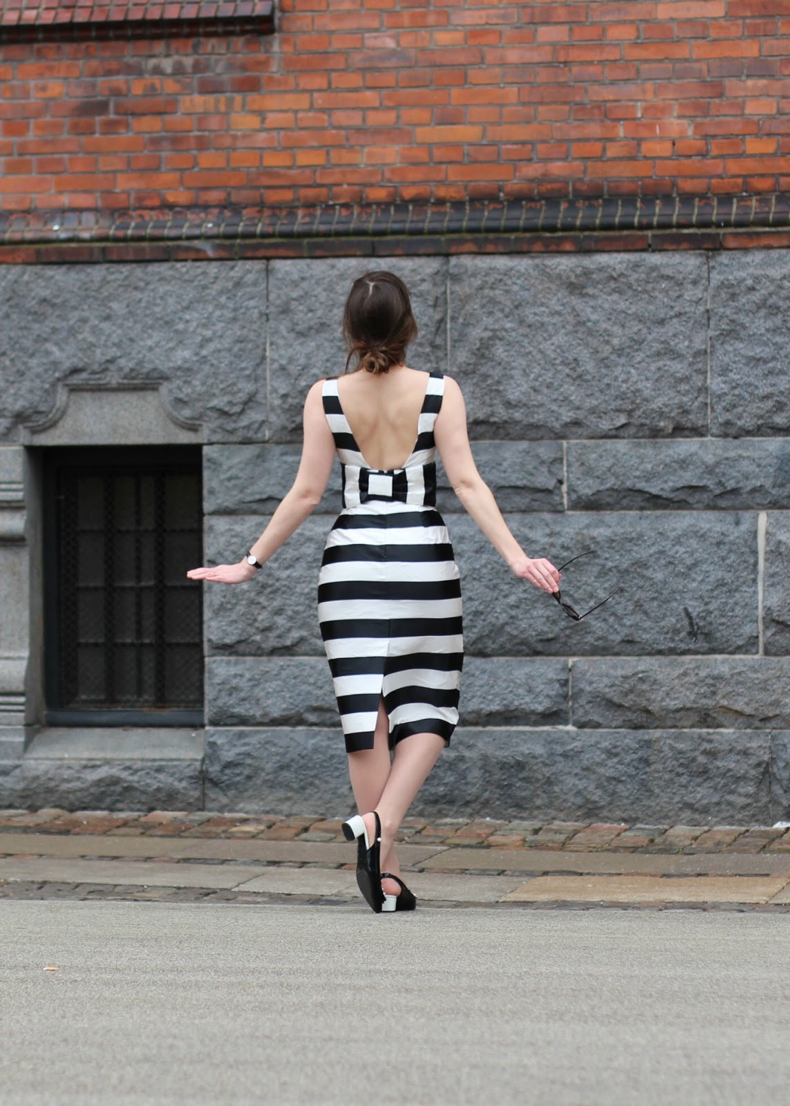 asos black and white dress