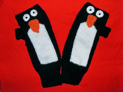 manusi cu un deget tricotate manual
