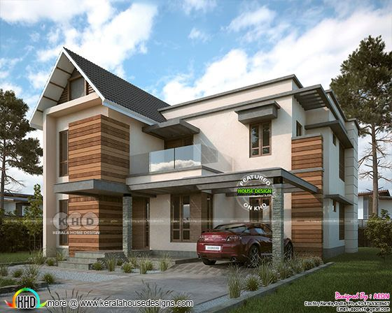 2200 sq-ft modern house with 3 bedrooms