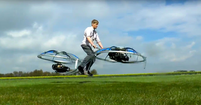 Video Screen Capture:  Colin Furze on his Hover-Bike