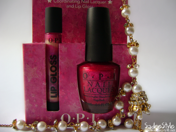 OPI Dynamic Duo - Meep Meep Meep Nail Lacquer & Holiday Lip Gloss Review