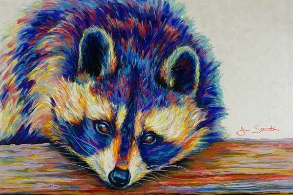 11-Raccoon-Large-Scale-Soft-Pastel-Drawings-Of-Wild-Ainimals-www-designstack-co