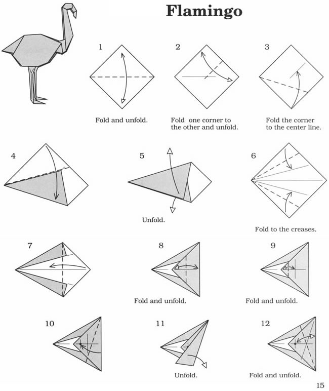 cool origami instructions hard