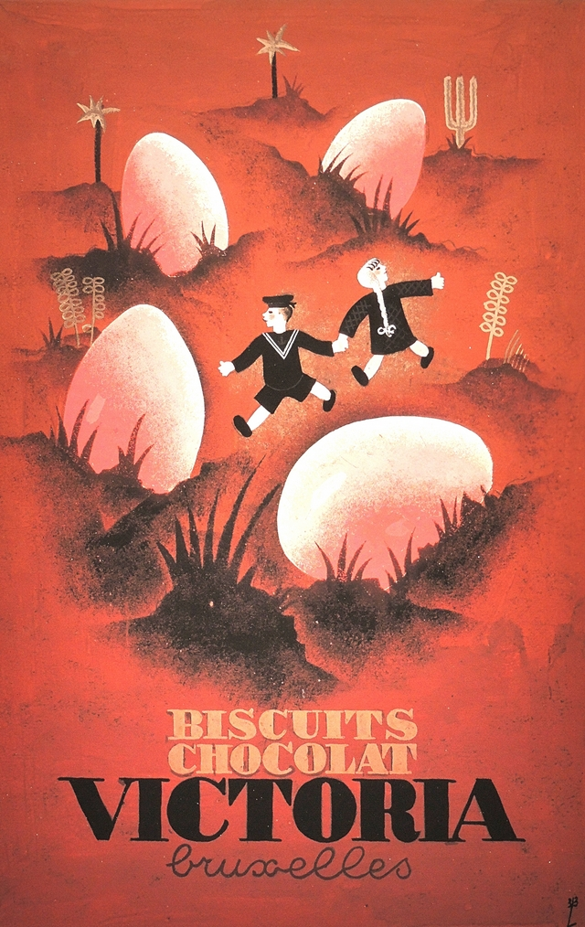 hergé, reclame, advertentie, kunst, biscuits chocolat victoria bruxelles