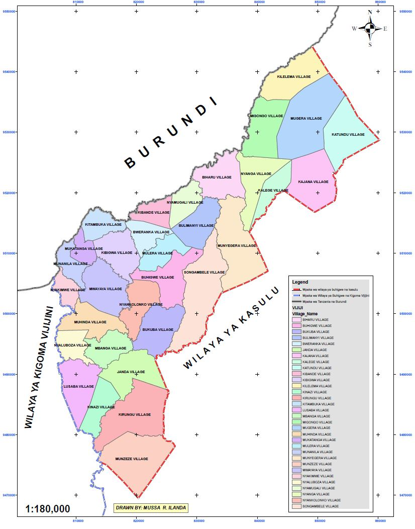 their support during the preparation of this profile is highly appreciated map 1 buhigwe and neighboring countries and districts