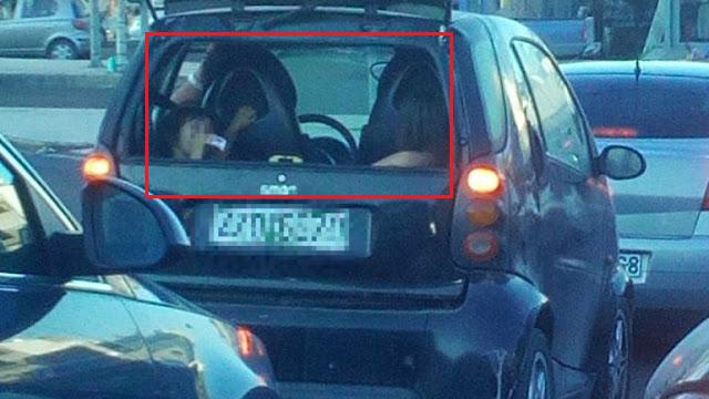 Θαυμάστε Έλληνα πατέρα: Δείτε πού έχει βάλει τις δυο κόρες του στο αυτοκίνητο! Κοινοποιήστε να τον… καμαρώσει ο κόσμος