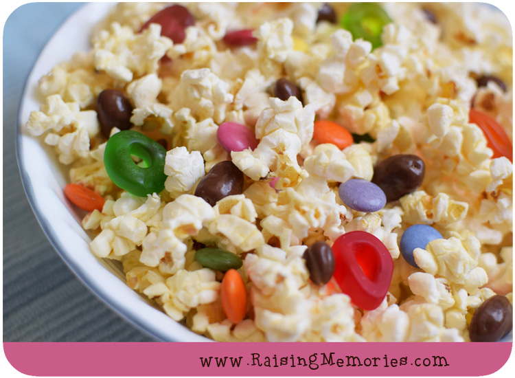 Party Mix Popcorn Recipe for National Popcorn Day
