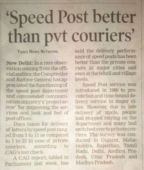 speed post is best service