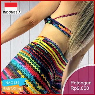 NAG184 Celana Wanita Sexy High Waist Pelangi Olahraga Murah Bmgshop