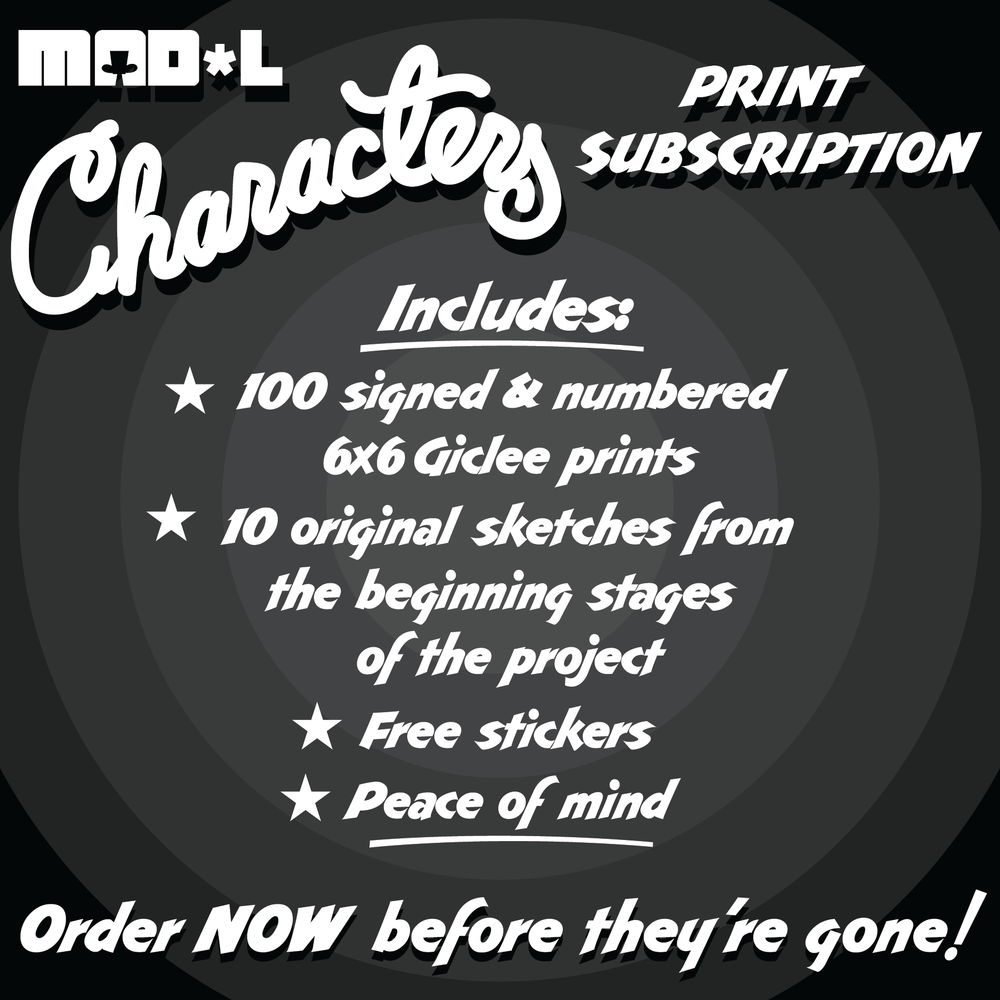 Mad'l Characters Print Series Subscription by MAD