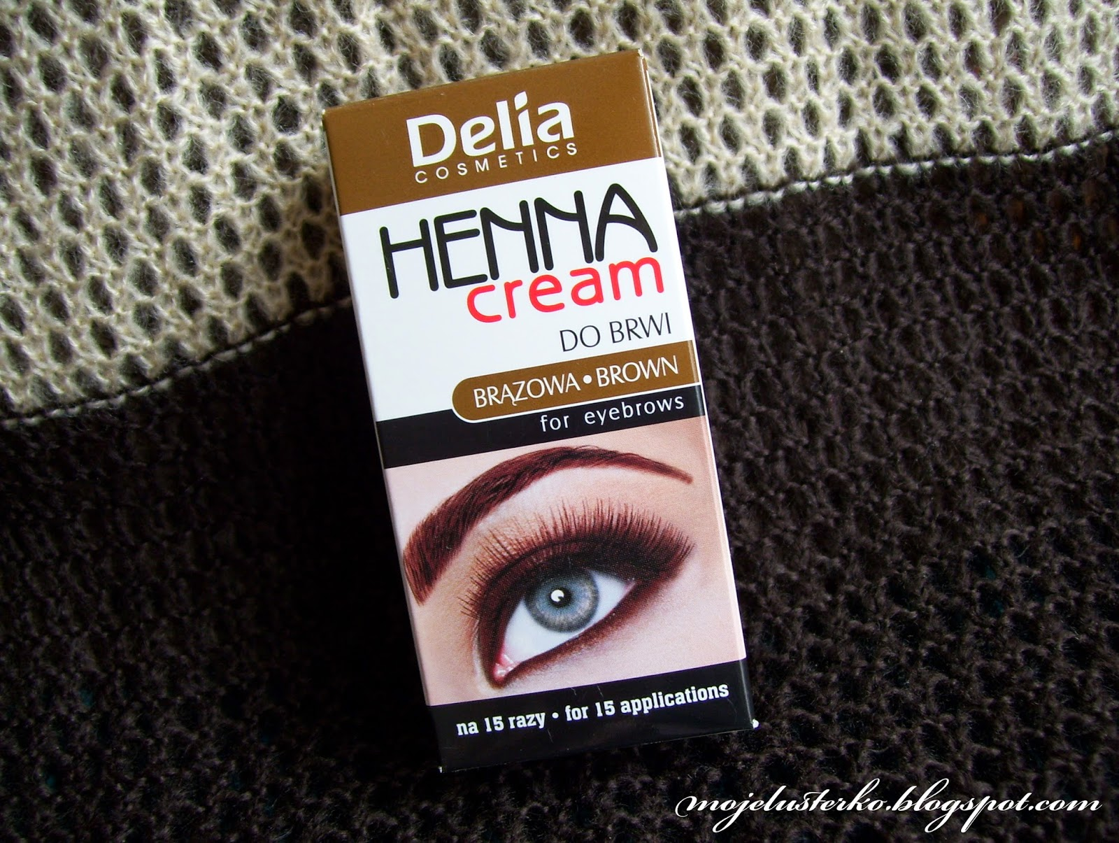 Henna w kremie do brwi i rzęs Delia.