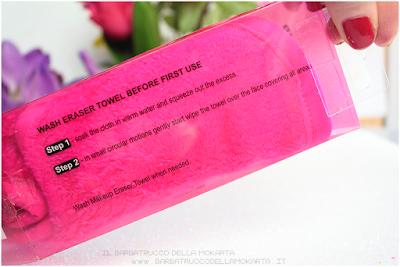 senza detergente pro makeup eraser towel panno struccante makeup revolution