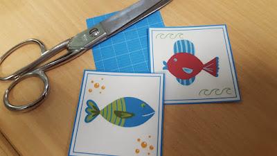 Sea Life Memory Game - free printable