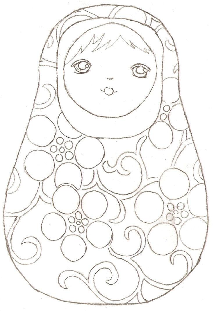 Matryoshka Laura: More Coloring Pages