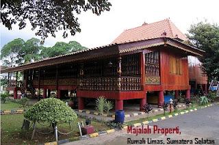 Desain Bentuk Rumah Adat Sumatra Selatan dan Penjelsannya, Rumah Limas, Palembang