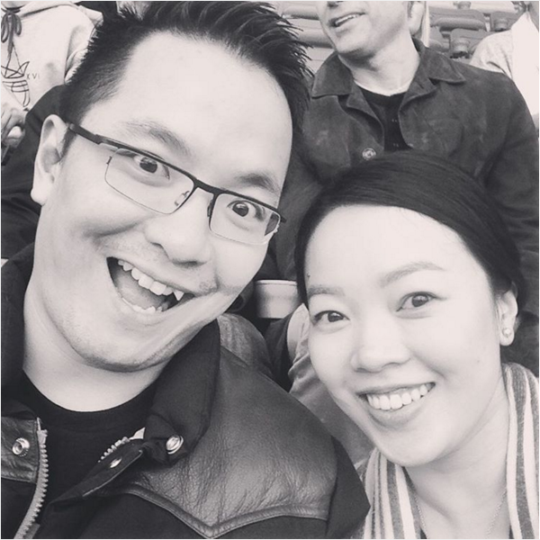 selfie at Canada Rugby Sevens tournament in Vancouver, BC