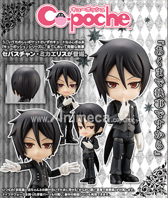 Figura Sebastian Michaelis Cu-poche Kuroshitsuji Book of the Atlantic