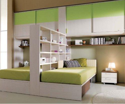 Consigli per la casa e l 39 arredamento come sfruttare lo spazio per le camerette idee e - Cameretta poco spazio ...