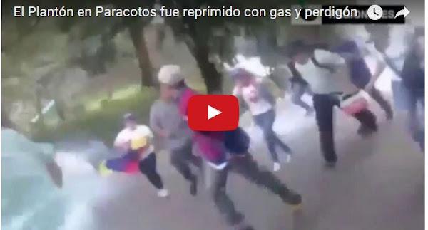 Represión de la Guardia Nacional en El Plantón contra manifestantes