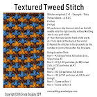Textured Tweed Knitting Stitch