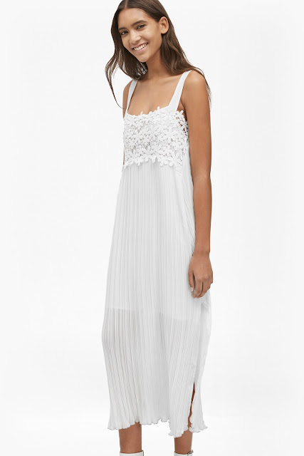french connection white strappy dress,