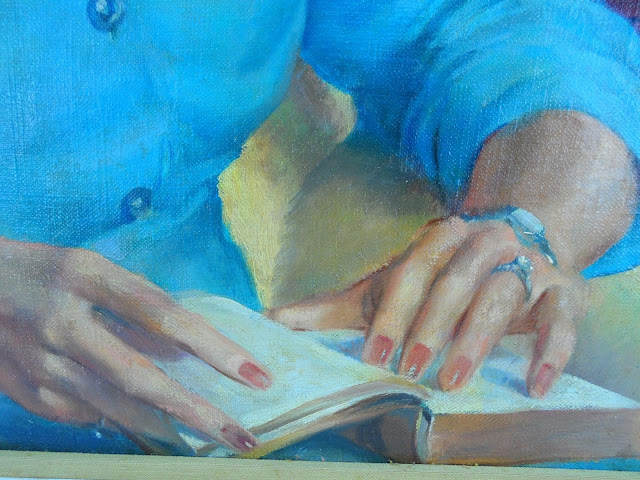 Francis Quirk Famous Pennsylvania Artist Hands Close up