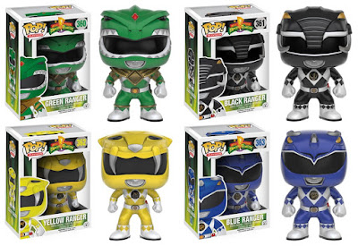 Mighty Morphin Power Rangers Pop! Television Series 1 by Funko - Green Ranger, Black Ranger, Yellow Ranger & Blue Ranger