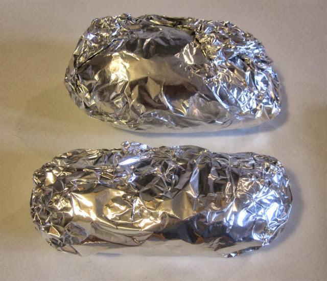 Boniato envuelto en papel de aluminio