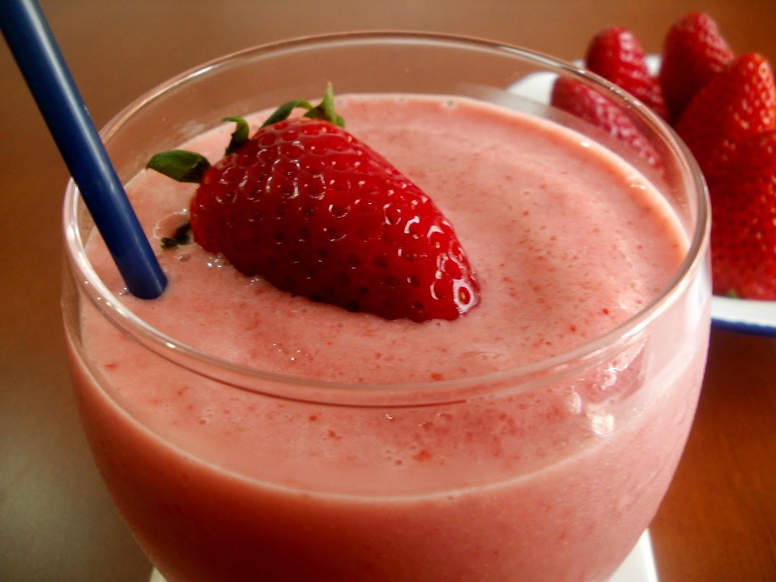 Batido de fresas con yogurt