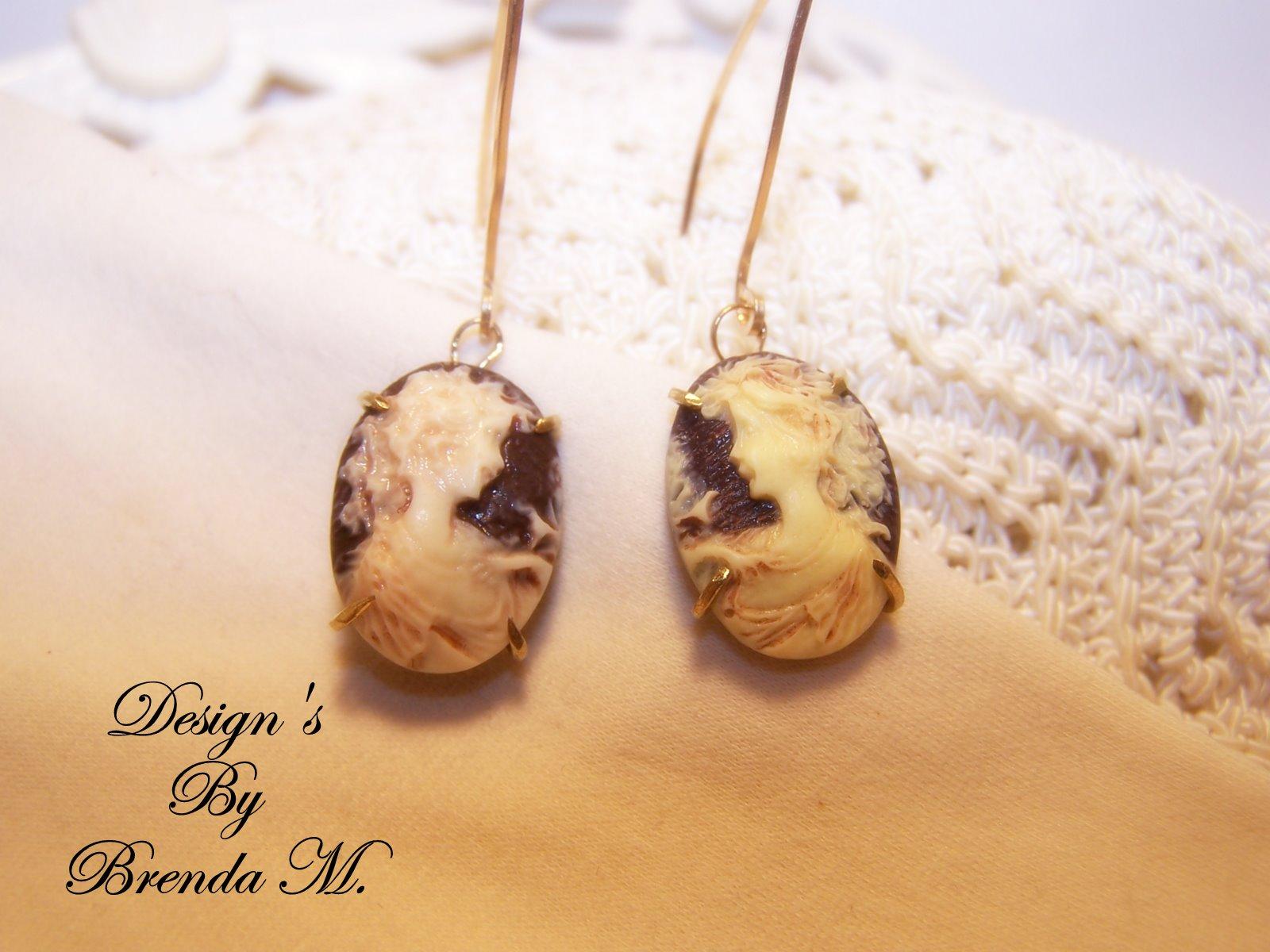 Brenda's Treasures: Antique Lady Cameo Earrings