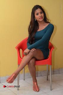 Telugu Actress Prasanthi Stills in Green Short Dress at Swachh Hyderabad Cricket Press Meet  0077.JPG
