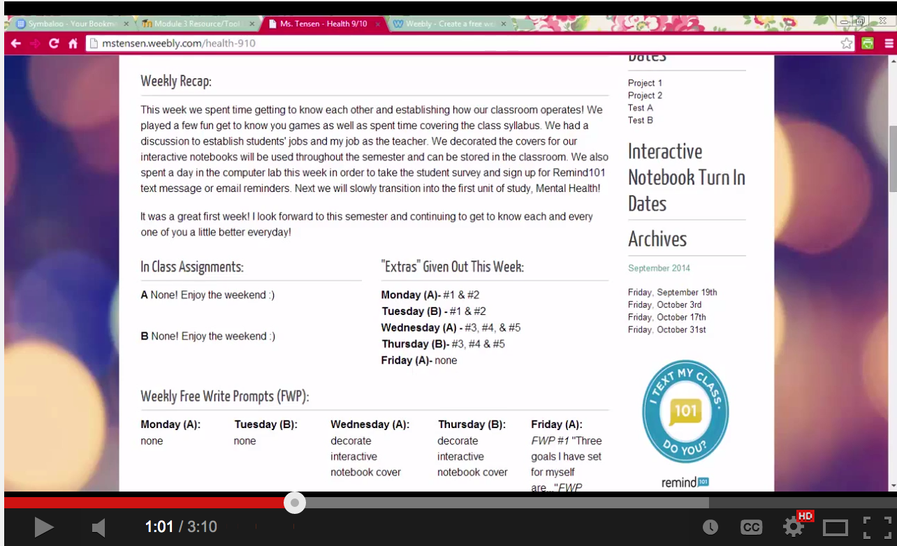 Video tutorials to help you create a classroom website for Websites you can draw on