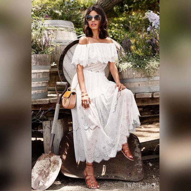 Εντυπωσιακό μάξι άσπρο φόρεμα MOELA