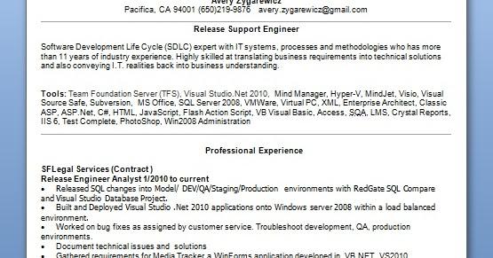 Engineer Analyst Sample Resume Format In Word Free Download